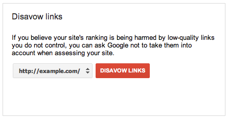 Disavow links tool for SEO
